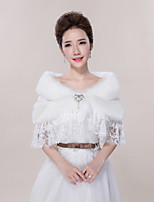 Wedding / Party/Evening / Casual Lace / Faux Fur Capelets Sleeveless Wedding  Wraps