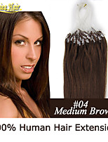 Micro Ring Hair Extension Links Straight Remy Human Hair Extensions 100g Brazilian Hair Loop Hair In Stock
