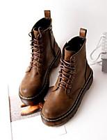 Women's Shoes Platform Combat Boots Boots Casual Black / Brown
