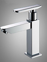 Bathroom Sink Chrome Finish Single Handle Basin Faucet Water Tap New Cold Water