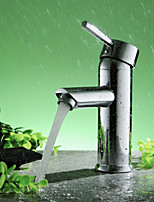 Bathroom Sink Faucet Diamond Shape Single Handle Chrome Finished Solid Brass Faucet