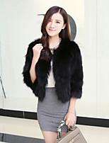Women Faux Fur Top , Belt Not Included