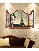 3D Wall Stickers Wall Decals, Eiffel Tower PVC Wall Stickers