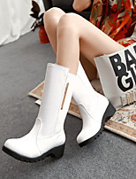 Women's Shoes Leatherette Wedge Heel Wedges /Office & Career / Party & Evening / Casual Black / White / Beige