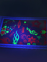 10/PCS Hot Sale Fluorescent Tattoo Handsome Multi-Style Temporary Tattoo For Fashion WST-165