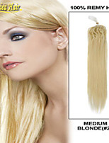 100% Real Natural Hair Micro Ring Hair Extensions Loop Hair Straight 1G/Strand 100G/Lot 18