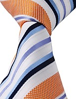 Blue Black White Purple Orange Stripes Tie Leisure Necktie