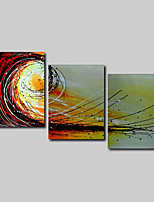 Hand-Painted Oil Painting on Canvas Wall Art Abstract Contempory Beige Abstract Three Panel Ready to Hang