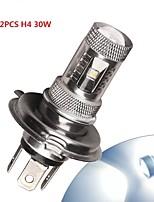 2 X  White High Power H4 30W LED HB2 9003 Car DRL Fog/Driving Light Lamp 12V-24