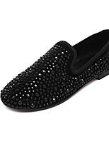Women's Shoes Glitter Flat Heel Comfort Loafers Outdoor Black / Silver / Gold