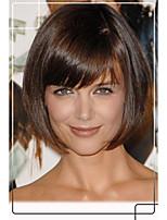 estilo de pelo Katie Holmes bob virginal remy del pelo de 1 pulgada top monofilamento humano pelucas sin tapa perfecta