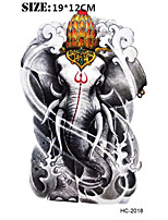 (1pcs) New Elephant 19*12cm Fashion Temporary Tattoo Stickers Temporary Body Art Waterproof Tattoo Pattern