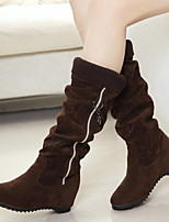 Women's Shoes Leisure Fashion Running-On  Flat Heel Comfort Boots Dress / Casual Black / Brown