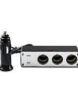 DearRoad Car Charger Cigarette Lighter 24V reducer to 12V Three Ports Triple Socket