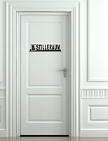 Wall Stickers Wall Decals, Creative Letters Door Decor Mural PVC Wall Stickers
