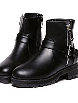 Women's Shoes Leatherette Chunky Heel Styles Boots Outdoor / Casual Black