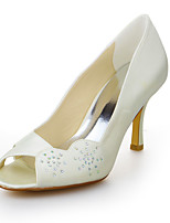 Women's Wedding Shoes Heels / Peep Toe Sandals Wedding Ivory / White