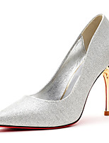 Women's Shoes Suede Stiletto Heel Heels / Comfort Heels Party & Evening / Dress / Casual Black / Red / Silver
