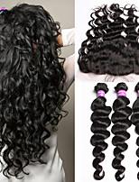 13x4 Peruvian Loose Wave Lace Frontal Closure With Bundles 6A Peruvian Virgin Hair With Lace Frontal Closure 10