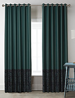 Two Panels Dark Green Characters Poly / Cotton Blend Panel