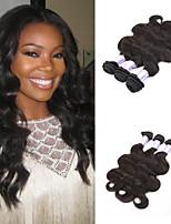 color natural extensión del pelo humano virginal brasileño que teje pelo de la onda del cuerpo del pelo humano para las mujeres negras