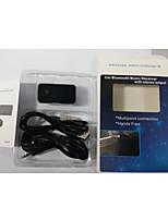 Crack Pattern 3.5mm Plug Car Bluetooth V4.1 Music Receiver - Black