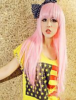 Peach Pink Sweet Lolita Straight Wig