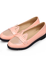 Women's Shoes Leatherette Low Heel Pointed Toe Loafers Outdoor / Casual Black / Green / Pink