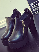 Women's Shoes Chunky Heel Round Toe Heels Casual Black / Yellow / Gray