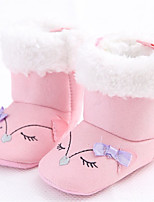 Baby Shoes Outdoor / Casual Fabric Boots Pink