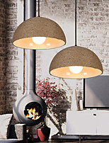 E27 30*15CM Line 1M Restore Ancient Ways The Nordic Idea Semicircle Chimney Hand Hemp Rope Personality Droplight Led