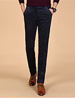 Men's Clothing Corduroy Trousers Male Corduroy Pants Commercial Slim Straight Trousers Casual Pants All-match