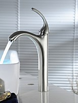 Brushed Nickel Bathroom Sink Faucet Lavatory Mixer Tap Tall Body