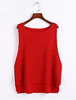 Women's Solid Red / White / Black / Gray Pullover , Sexy Sleeveless