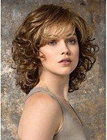 Lady's Women Brown  Medium  Synthetic Wave Wigs With A Bang