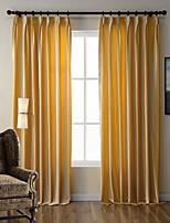 (One Panel) Bedroom Living Room Environmental Polyester Italian Velveteen Curtain