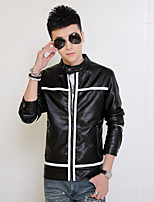 New winter men leisure leather Han edition fashion students big yards cotton-padded jacket coat