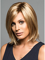 Capless Short High Quality Synthetic Brown Straight Hair Wig Side Bang