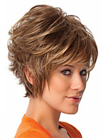 Short Blonde Syntheic  Wig Extensions  Women's Daily Lovely Syntheic  Wig