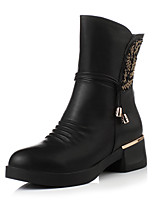 Women's Shoes Chunky Heel / Fashion Boots / Round Toe Boots Dress / Casual Black / Brown