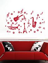 Música / De moda Pegatinas de pared Calcomanías de Aviones para Pared , PVC 20m*60cm