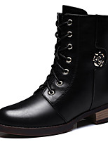 Women's Shoes Synthetic Chunky Heel Snow Boots / Motorcycle Boots Boots Party & Evening / Casual Black / Red