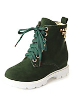 Women's Shoes  Platform Fashion Boots / Comfort Boots Outdoor / Office & Career / Casual Black / Green / Pink / Beige