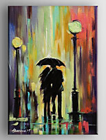 Hand Painted Oil Painting  Lovers Abstract Painting   with Stretched Framed Ready to Hang