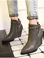 Women's Shoes Wedge Heel Wedges Boots Casual Black / Gray