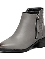 Women's Shoes Chunky Heel Combat Boots Boots Outdoor / Casual Black / Gray