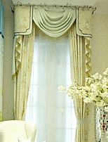 (Two Panel)Modern  Floral Printed Faux Silk  Eco-friendly Curtain(Valance and Sheer Not Included)