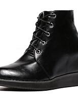 Chaussures Femme - Décontracté - Noir - Talon Bas - Rangers - Bottes - Similicuir