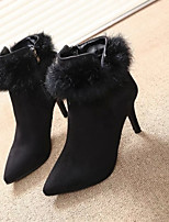 Women's Shoes Stiletto Heel Pointed Toe Boots Casual Black / Gray / Burgundy