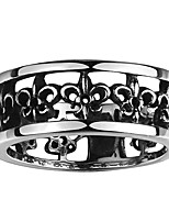 Vintage Floral Wild Men Finger Biker Rings Silver Plated 316L Stainless Steel Jewelry For Man Boy Size  120